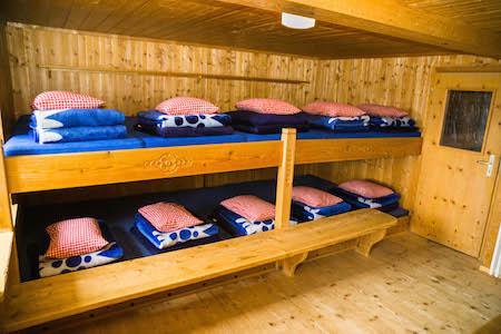 Matratzenlager hütte  Edmund-Probst-Haus - Zimmer & Lager
